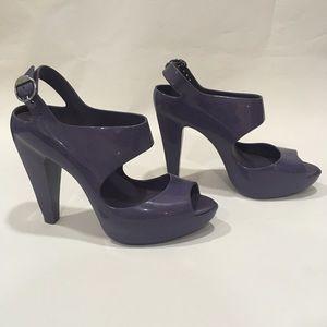 Melissa Amazonas Heels Purple Size 37